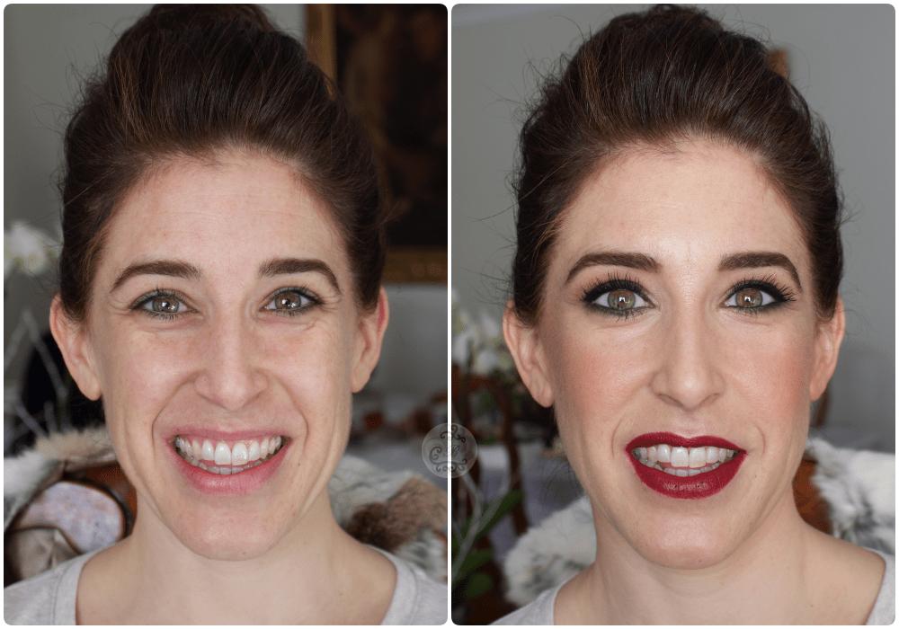 Maquillaje antes/después a Rocio - Bobbi Brown.