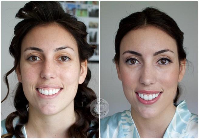 Antes/después novia Laura - Bobbi Brown