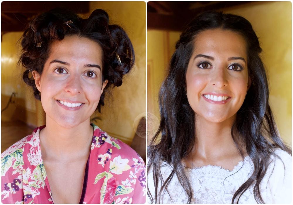 Novia Laura - Bobbi Brown . Maquillaje ANTES / DESPUES .