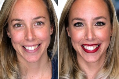 Antes/después a Claudia - Bobbi Brown