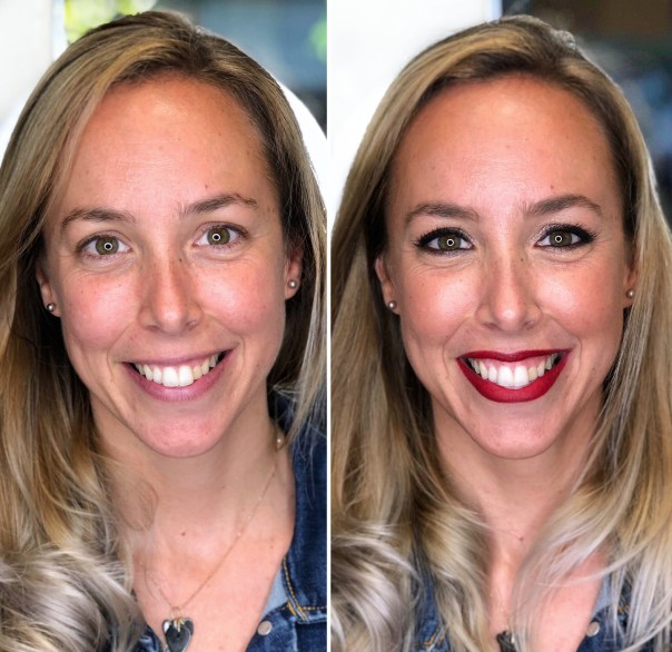 Antes/después a Claudia - Bobbi Brown
