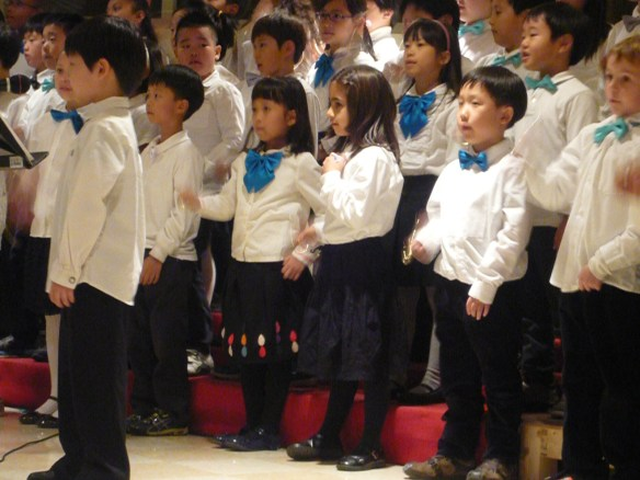 The second grade Christmas concert