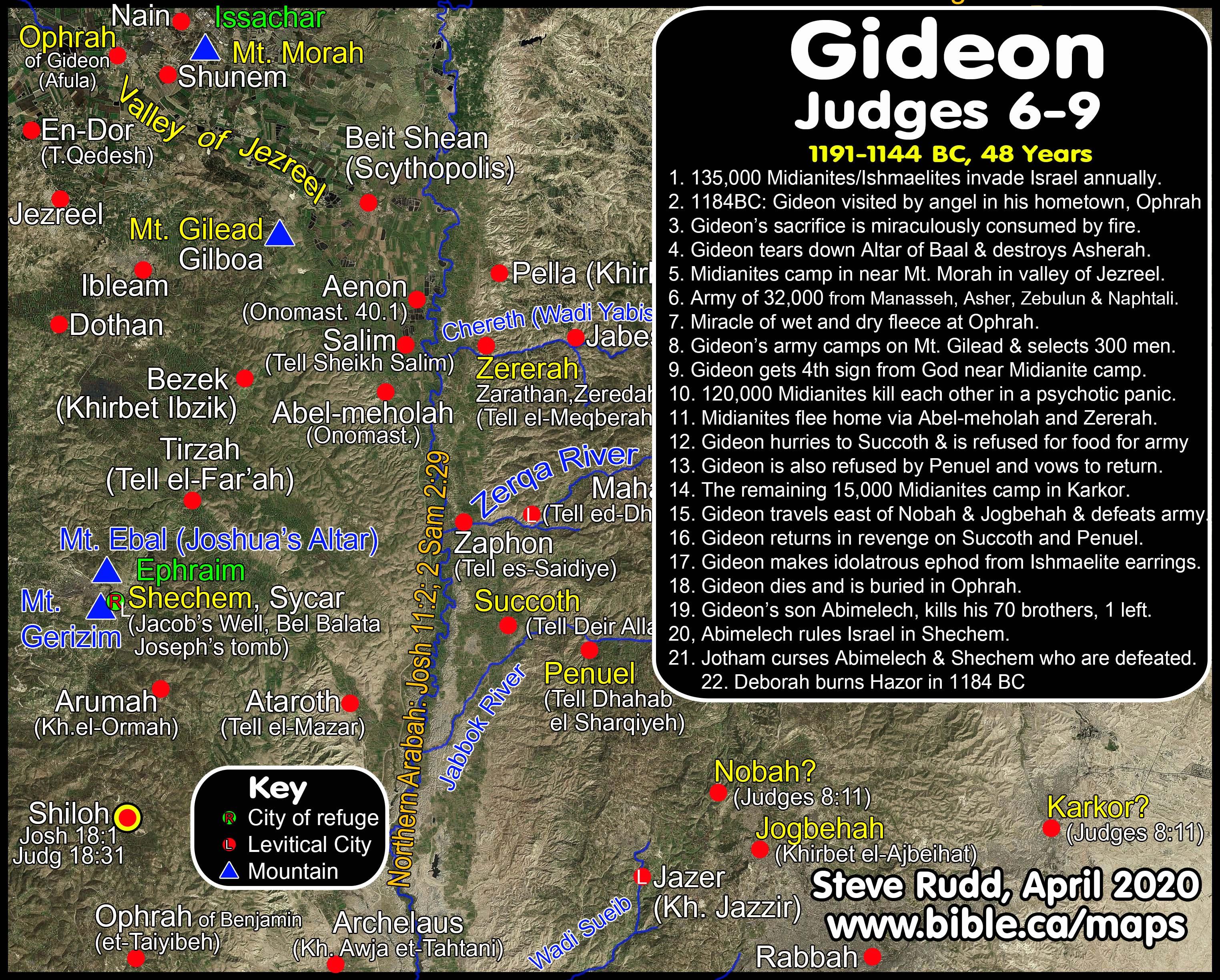 Timeline Maps Chronology Sermons Of Judges Gideon