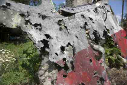Cockpit of MH17 shot by Ukraine Air Force