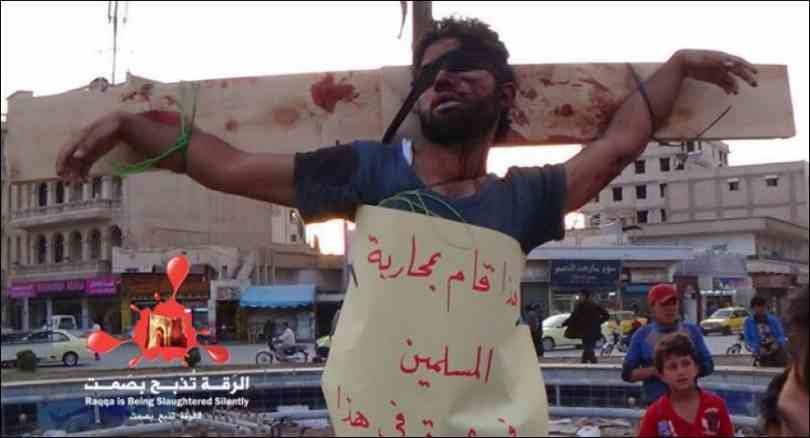 Christian crucified in Raqqa, Syria