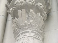 pilaster on St. John the Divine Cathedral NYC