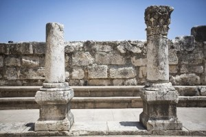 Ancient synagogue remains in Capernaum