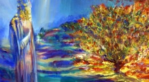 Moses and the burning bush - Yoram Raanan