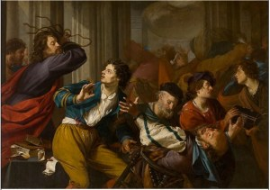 Christ Driving the Money-changers from the Temple - Theodoor Rombouts (about 1600)