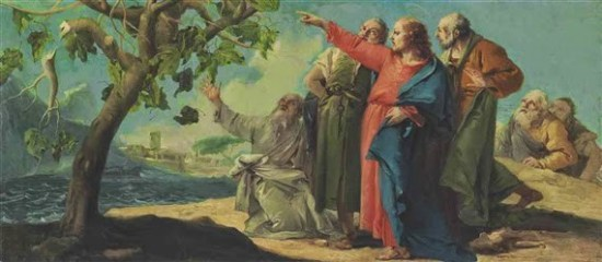 The cursing of the fig tree - Artist Unknown