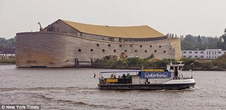 The newest ark is a full-size replica of Noah's ark.  Source: New York Times