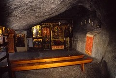 The cave on the island of Patmos suggested as the site where Jesus revealed the book of Revelation to John