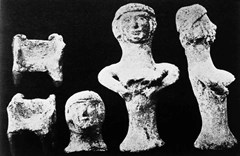 Ancient Canaanite Teraphim (idol). Figurines of a fertility goddess placed in ancient Canaanite houses to ensure health