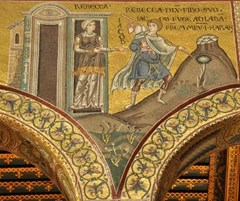 12-13th century mosaic - Cathedral of the Assumption, Monreale, Sicily