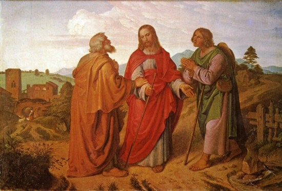 Christ and Two Disciples - Unknown