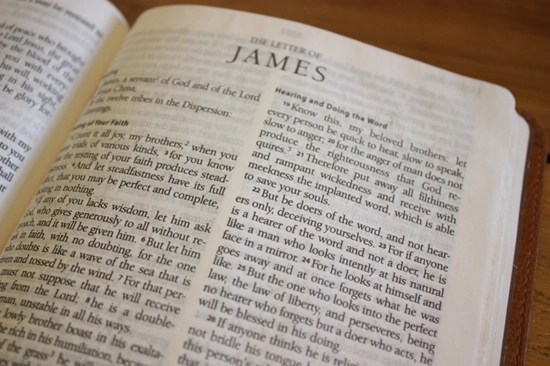 Detailed outline of the Book (Letter of) of James