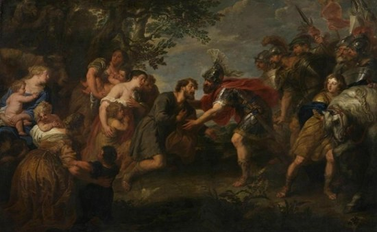 Jacob and Esau are reconciled - Jan van den Hoecke