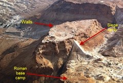 Aeriel photo shows evidence of Roman siege in ancient city of Masada