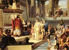 Solomon and the Queen of Sheba, painting by Giovanni Demin (1789-1859)