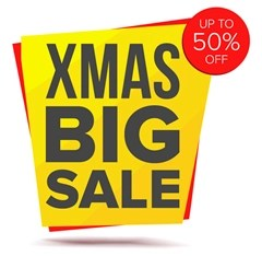 X-Mas sale sign