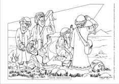 Bible Cartoons: Colouring sheets index