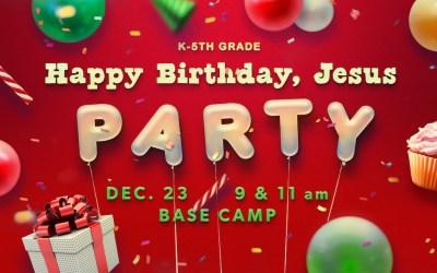 Happy Birthday, Jesus Party (K-5th)