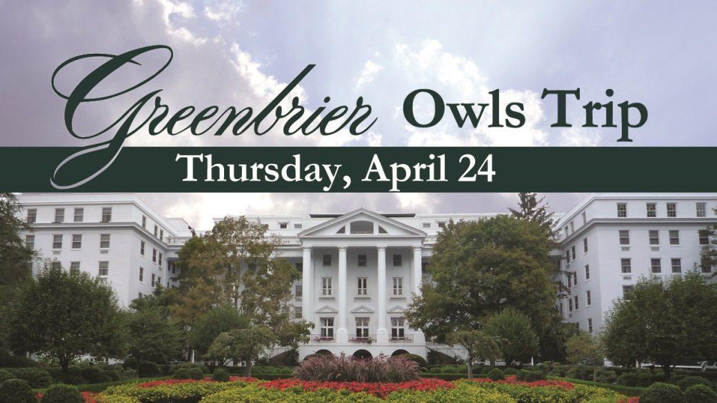 OWLS Greenbrier Trip (55+)