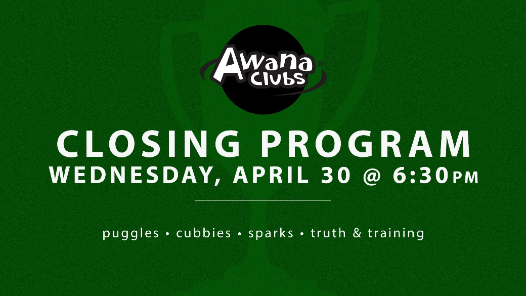 AWANA Closing Program