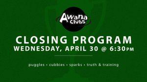 04-30-14 Awana Closing Program