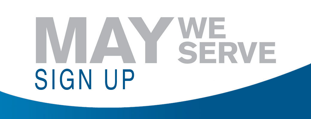 May We Serve: Sign up now!