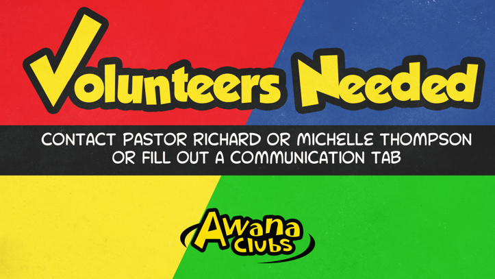 AWANA Volunteers Needed