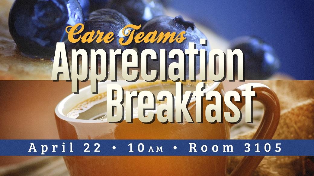 Care Teams Appreciation Breakfast