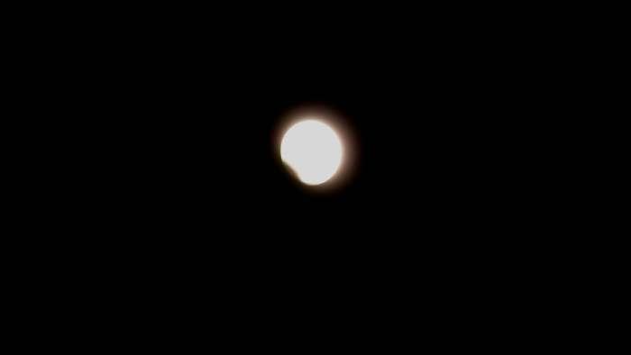 — Première phase d'éclipse totale de lune - Jérusalem —