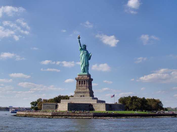 Statue de la Liberté dans la rade de New York