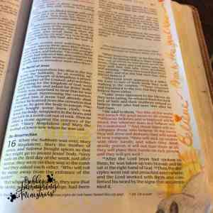 My first bible journaling