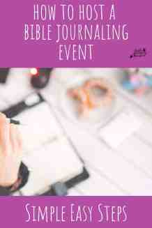 bible journal event