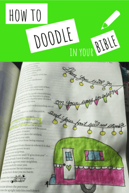 how to doodle in your bible