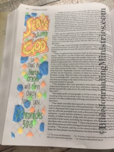 Bible journaling entry - 2 Chronicles