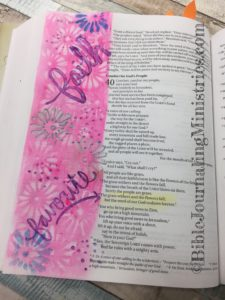 Isaiah- Bible journaling entry