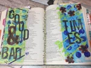 Job - Bible journaling entry
