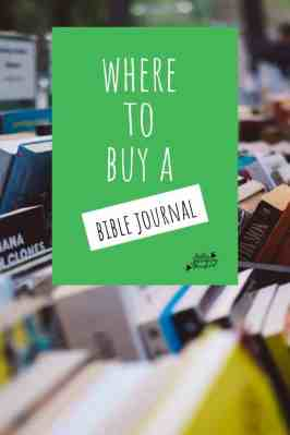 journaling bible where to buy one