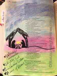 Christmas Bible journaling ideas Isaiah 9