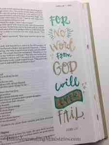Bible Journaling Luke 1-37