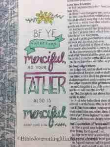 Bible Journaling Luke 6:36
