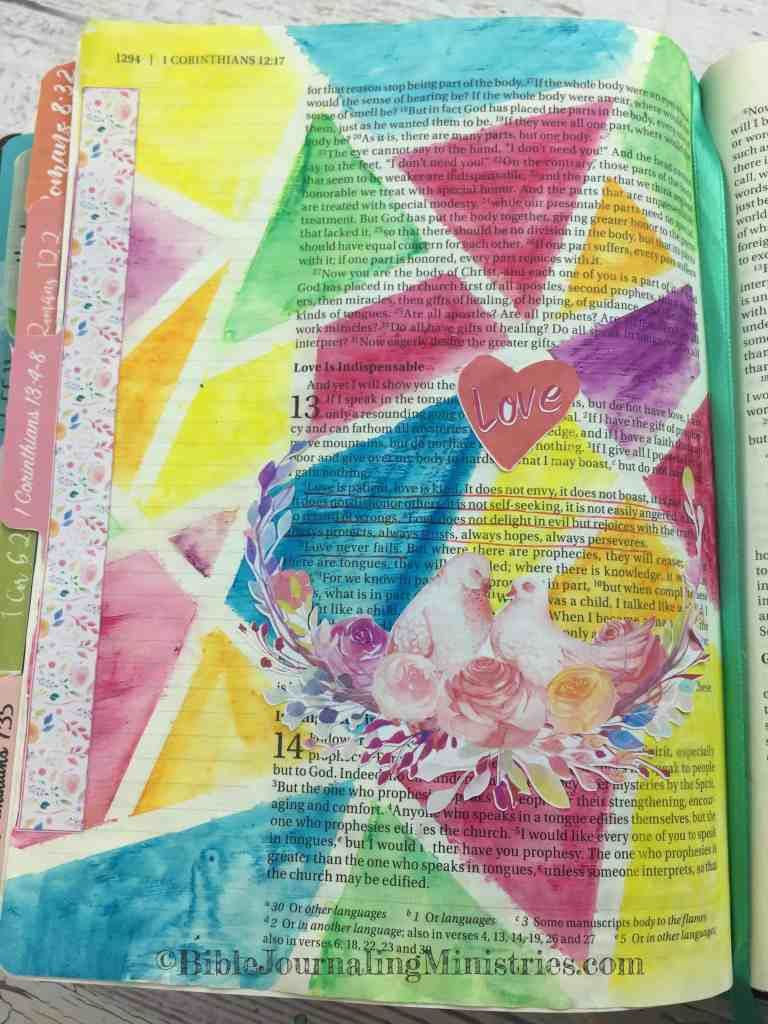 Bible Journaling 1 Corinthians 13: 4-8