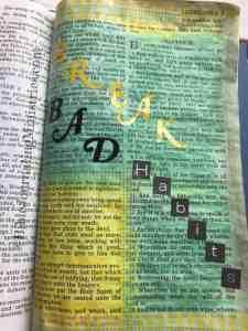 breaking bad habits Bible Journaling Ephesians 4:24-31
