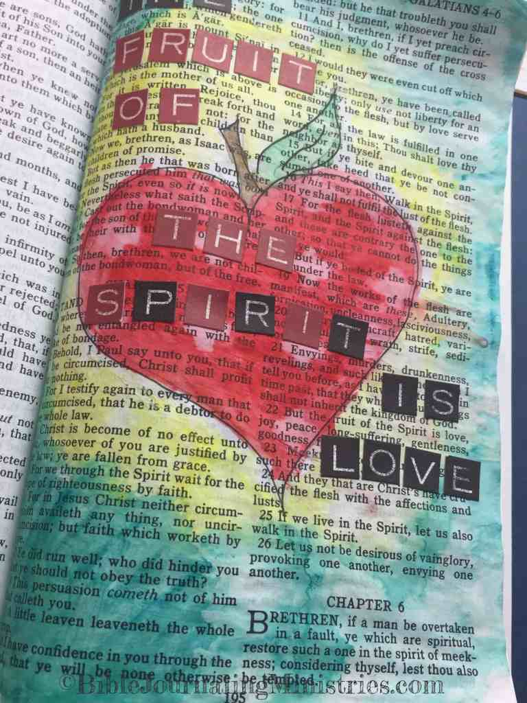 Bible Journaling Galatians 5:22