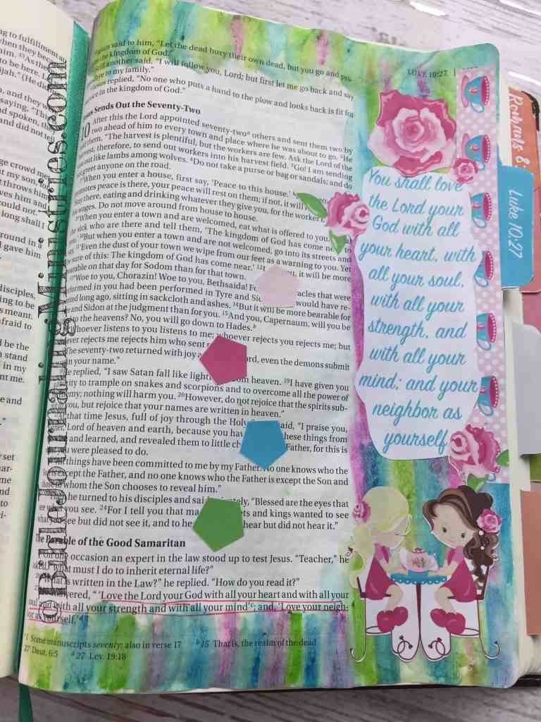 Bible Journaling Luke 10:27