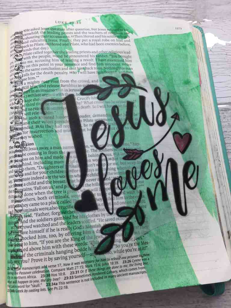 Bible Journaling Beautiful Verses Luke 23:34