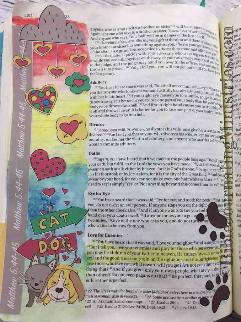 Bible Journaling Matthew 5:44-45